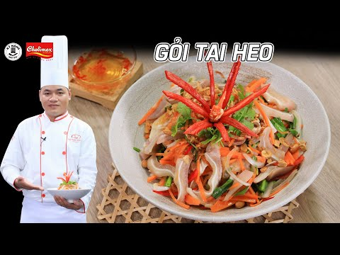 Cách làm Gỏi Tai Heo chua ngọt thơm ngon thật đơn giản - Kỹ Năng Vào Bếp
