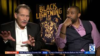 THE CAST OF BLACK LIGHTNING CHATS WITH KTLA