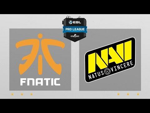 CS:GO - Fnatic vs. NaVi [Mirage] Map 2 - ESL Pro League Season 5 - EU Matchday 12