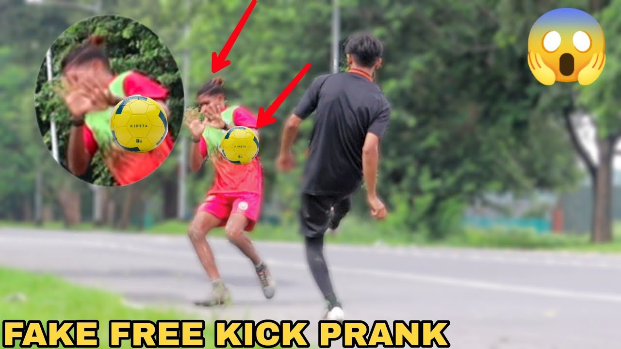 Fake Football kick Prank! || MOUZ PRANK