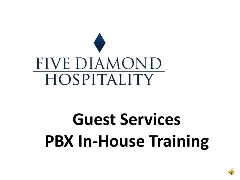 Hotel Guest Services PBX Training Video - In House Calls