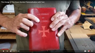The Liturgy of The Hours Symbol Personalization with Text