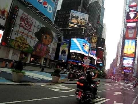 2010 9-11 ride through Time Square.AVI