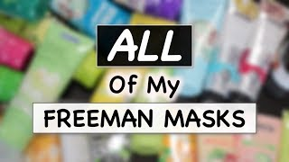 FREEMAN MASKS COLLECTION REVIEW | Masker Freeman | Skincare Routine | suhaysalim