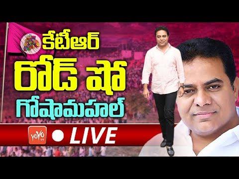 KTR Road Show LIVE | TRS Election Campaign in Goshamahal | Telangana Elections 218 | YOYO TV