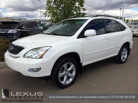 White Lexus Suv >> Pre Owned White 2007 Lexus Rx 350 Awd Review Fort Saskatchewan