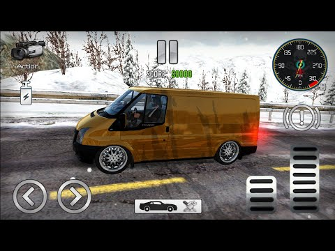 Transit Drift & Driving Simulator - Ford Transit #Gold Tunning Body Custom | Android GamePlay | [HD]
