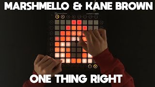 Marshmello & Kane Brown - One Thing Right (Firebeatz Remix) [Launchpad Cover]