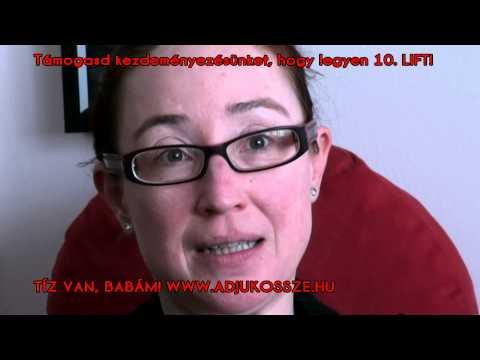 Bíró Kriszta színművésznő is drukkol nekünk a LIFT kampányban!