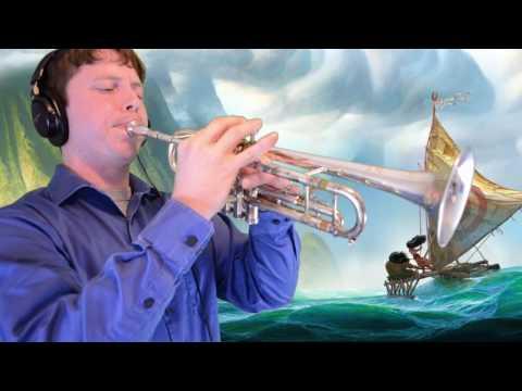 How Far Ill Go from Moana Trumpet