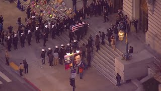 Raw Video: Ed Lee's Casket Arrives At City Hall