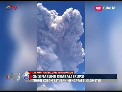 Meletus Lagi, Gunung Sinabung Luncurkan Abu Setinggi 5 Kilometer - BIM 19/02