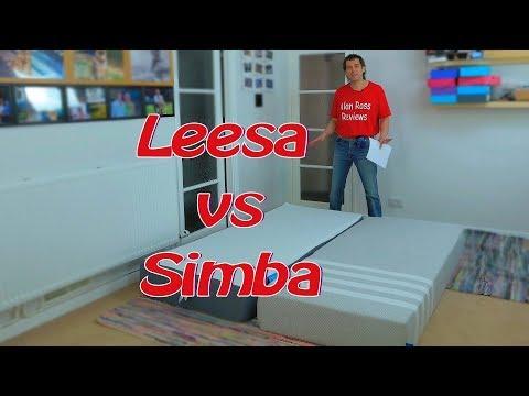Leesa vs Simba mattress comparison 2019 - Simbatex vs Avena foam
