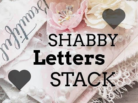 COME CRAFT/CHAT  WITH ME | SHABBY STACK OF LETTERS | PRIMA LOVE STORY | PART 1/2