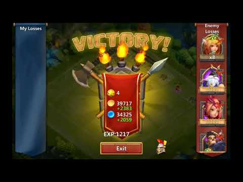 Asura Gameplay On The Luckiest Small Account ! + Oppening 3 Anniversary Bag ! Castle Clash