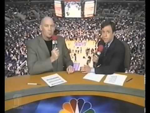 NBA on NBC 2002 Finals GM 2 intro Lakers VS Nets