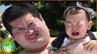 """مسابقة """"سومو بكاء الرضع"""" ◄ الياب…"""