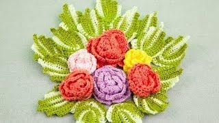 Вязание крючком. Цветок розы(В этом видео я показываю как связать цветок розы. Предыдущие видео: http://youtu.be/R1DgZCsxokA (Анютины глазки) http://youtu.be/..., 2014-05-02T07:29:37.000Z)