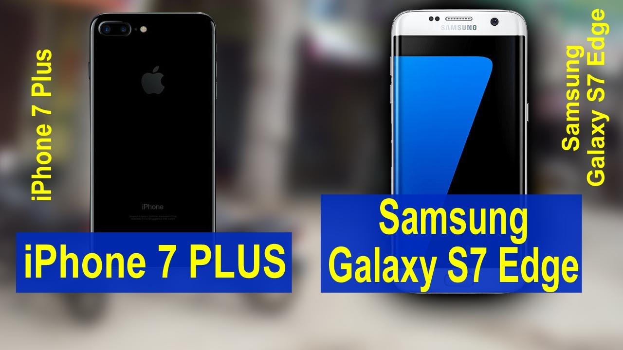 SAMSUNG GALAXY S7 VS IPHONE S7 PLUS SCREEN SIZE
