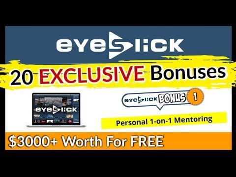 EyeSlick Bonus - DON'T BUY EyeSlick Before Getting This HUGE Bonus ($3000+). http://bit.ly/30sbQqM