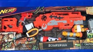 Nerf Zombie Strike Scravenger New Nerf Blaster Unboxing Nerf Nation