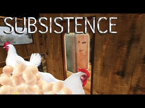 Subsistence - Crafting a Refrigerator, ALL THE EGGS, Max Level Chickens! - Gameplay Highlights Ep 13