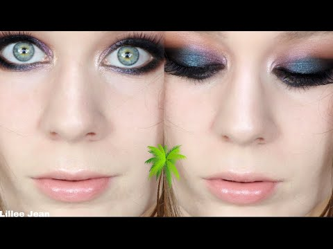Too Faced Palm Springs Smokey Blue & Purple Cut Crease Makeup Tutorial   Lillee Jean thumbnail