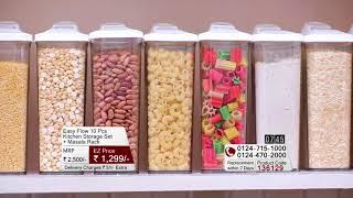 Easy Flow 10 Pcs Kitchen Storage + Masala Rack