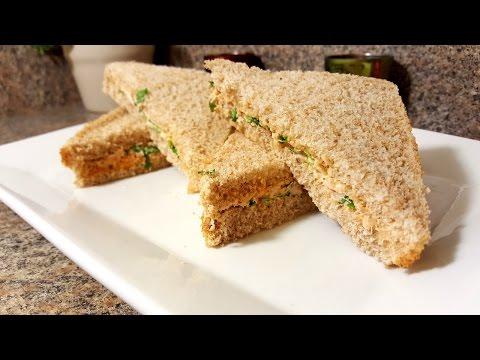 How to make tuna sweetcorn mayo sandwich