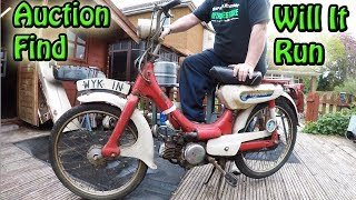 Will It Start After 42 Years Auction Find Honda PC50 Moped Vlog