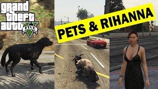 Rihanna and pets (собака, хряк): GTA 5 MODS