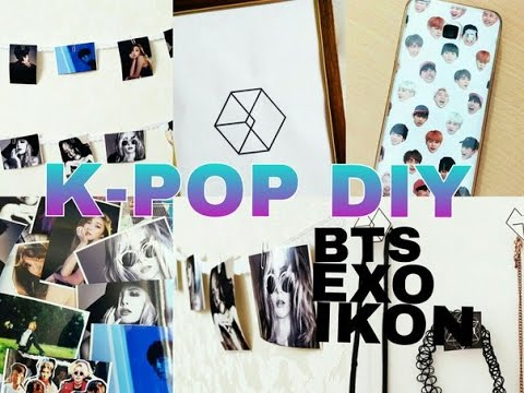 K-POP DIY ROOM DECOR (EXO-MONSTER,BTS...)EASY DIY - YouTube on Room Decor Bts id=49280