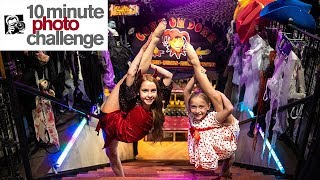HALLOWEEN 10 Minute Photo Challenge with DANCE MOMS Lilly K and Friends