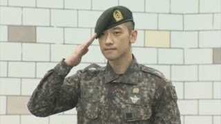 South Korean pop star Rain ends military service