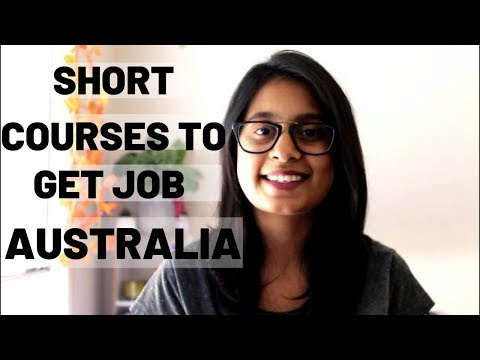 COURSES TO GET PART TIME JOB IN AUSTRALIA!