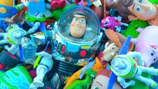Giant Toy Story Toys Collection With Buzz Lightyear Sheriff Woody And Mcdonalds Power Rangers