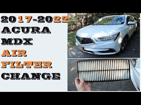 How to replace remove Air Filter in 2017-2022 Acura Mdx