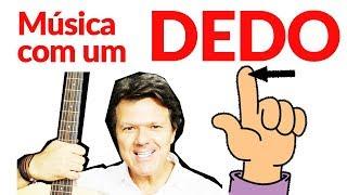 Baixar AULA VIOLÃO C/ UM DEDO! FÁCIL DEMAIS! COMPARTILHE!