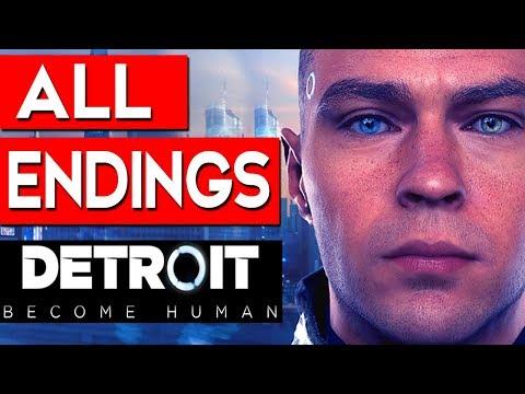Detroit Become Human - ALL ENDINGS (Bad Ending 1 + Good Ending 2) + SECRET ENDING