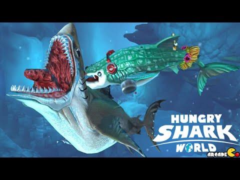 Hungry Shark World Basking Shark VS Whale Shark VS GREAT ...