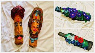 Three bottle decoration ideas/ bottle art/ bottle decoration
