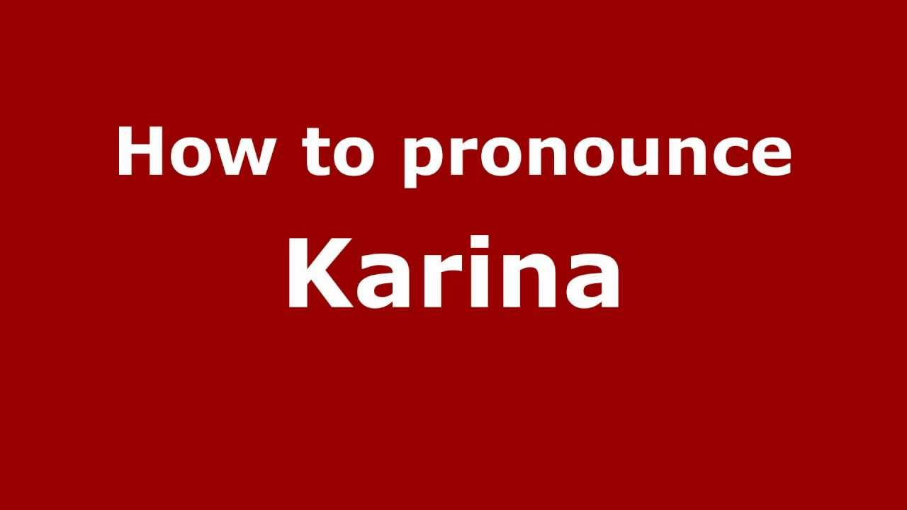 What does the name Karina mean 64