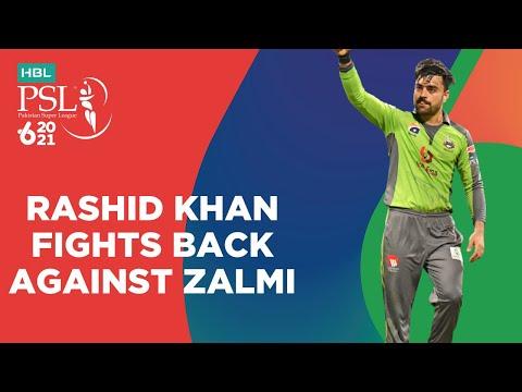 Rashid Khan Fight Back Against Zalmi | Lahore vs Peshawar | Match 17 | HBL PSL 6 | MG2T