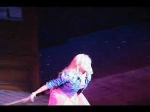 Laura Bell Bundy's Shoe flies into the Audience during Legally Blonde the Musical