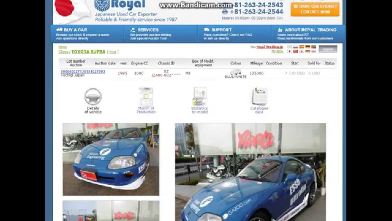 How to bid on used cars from Japan direct from the Auction