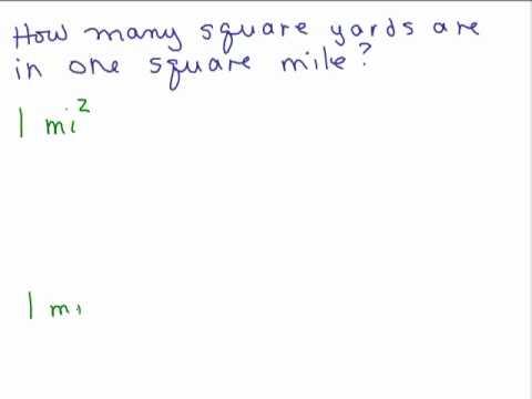 Unit Conversion 3 - square units (area)