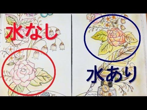 初心者でもできる水彩色鉛筆で大人のぬりえを塗る2つの方法を比較