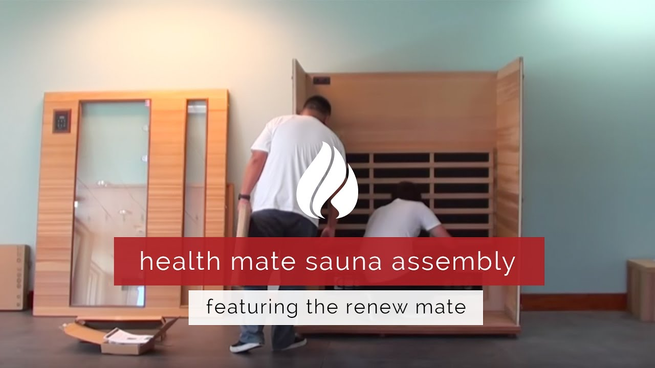 health mate renew mate infrared sauna assembly youtube
