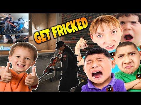 (2v4) DESTROYING 4 TrashTalkers With LITTLE KID! - Rainbow Six Siege