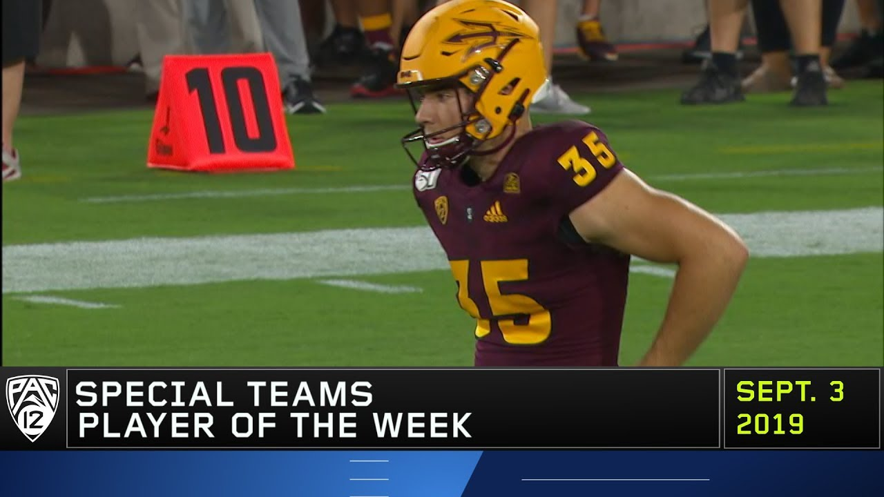 Arizona States Michael Turk Earns Pac 12 Special Teams Player Of